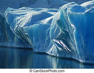 синий, лед