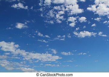 синий, лето, clouds, cloudscape, небо, задний план