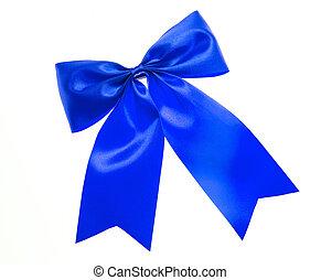 синий, лук, isolated, white.