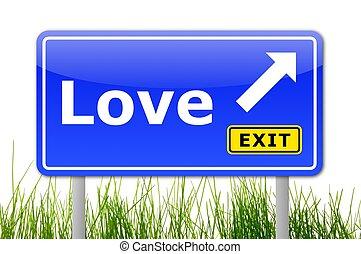 синий, люблю, слово, дорога, знак