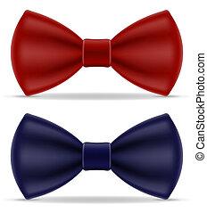 синий, люди, иллюстрация, лук, костюм, галстук, красный