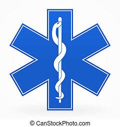 синий, медицинская, знак