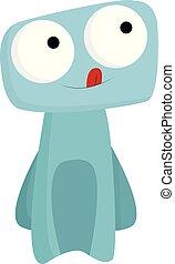 синий, монстр, цвет, большой, вектор, eyes, или, illustration.