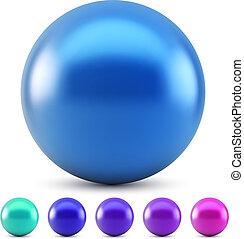 синий, мяч, isolated, иллюстрация, colors, вектор, глянцевый, задний план, белый, холодно, samples.