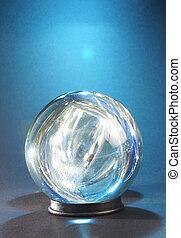 синий, мяч, lights, легкий, в, против, кристалл