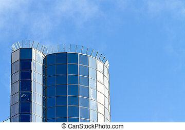 синий, небоскреб