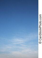 синий, небо, белый, драматичный, clouds