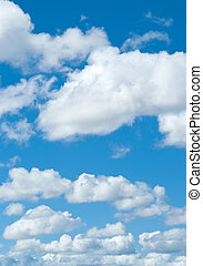 синий, небо, белый, clouds