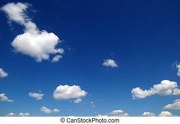 синий, небо, задний план