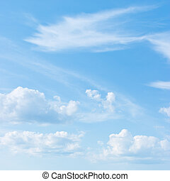 синий, небо