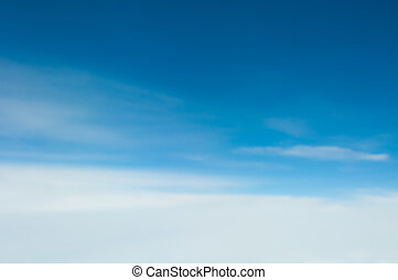 синий, небо, clouds, задний план, пятно