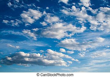 синий, небо, clouds