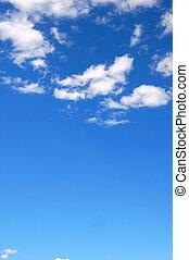 синий, облачный, небо