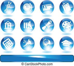 синий, образование, icons
