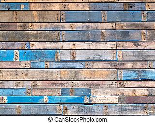 синий, окрашенный, сайдинг, дерево, экстерьер, шероховатый, planks