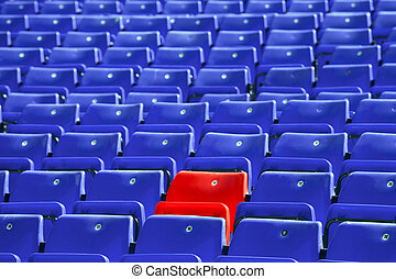 синий, сидеть, rows