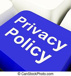 синий, срок, компьютер, конфиденциальность, показ, защита, ключ, политика, данные, компания