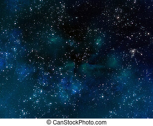 синий, туманность, clouds, пространство