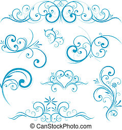 синий, форма, свиток