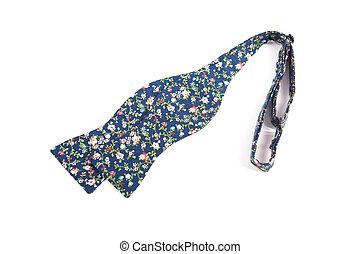 синий, цветок, isolated, лук, задний план, галстук, белый