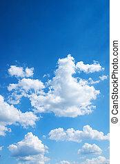 синий, яркий, небо, красочный, задний план