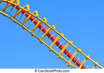 синий, (against, rollercoaser, sky)