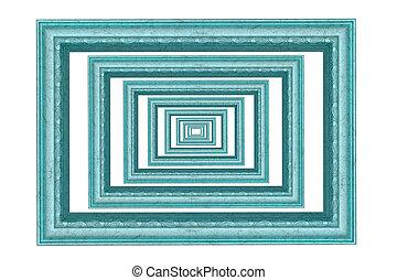 синий, background., рамка, белый, isolated