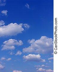 синий, clouds, небо, задний план