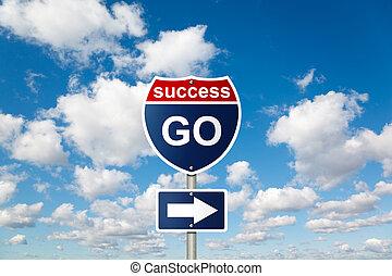 синий, clouds, успех, коллаж, пушистый, небо, знак, белый, идти