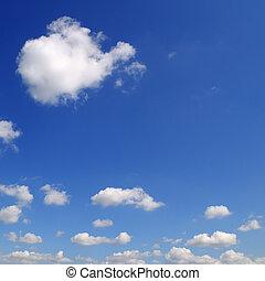 синий, clouds, sky., легкий, солнечно, day., яркий