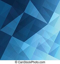 синий, eps10, абстрактные, background., вектор, triangles