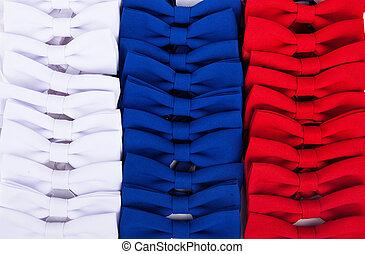 синий, isolated, лук, задний план, белый, галстук, белый, красный