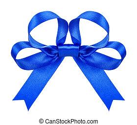 синий, isolated, лук, задний план, белый, сатин
