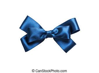 синий, isolated, лук, background., close-up., белый