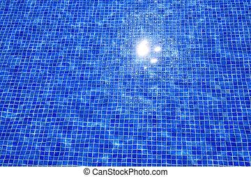 синий, tiles, отражение, текстура, воды, бассейн, плавание