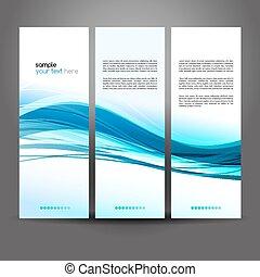 синий, waved, красочный, абстрактные, вектор, задний план