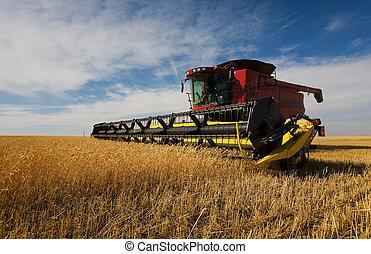 скомбинировать, harvesting
