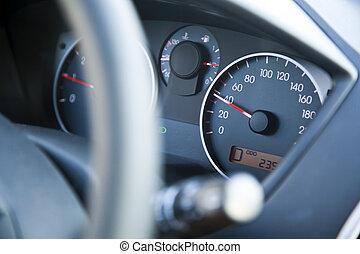 скорость, в, предел, панель приборов, автомобиль