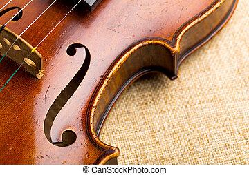 скрипка, вверх, закрыть
