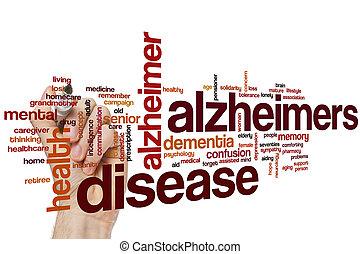 слово, болезнь, облако, alzheimers