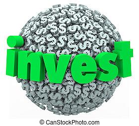 слово, вкладывать деньги, доллар, знак, 401k, сфера, экономия, акции, рынок, связь