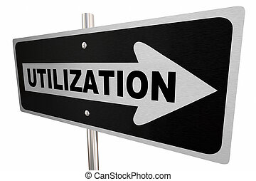 слово, использование, использовать, иллюстрация, знак, дорога, путь, один, ресурсы, 3d