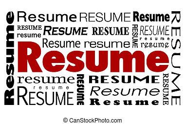 слово, кандидат, продолжить, коллаж, опыт, навыки, работа, край, конкурентоспособный