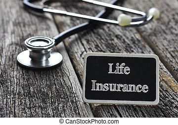 слово, классная доска, медицинская, написано, дерево, стетоскоп, задний план, concept-life, страхование