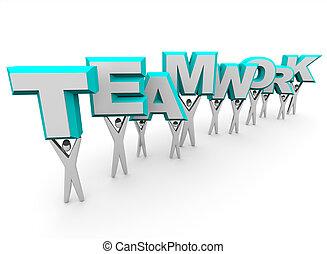 слово, командная работа, lifting, команда