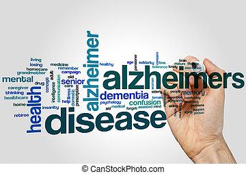 слово, облако, болезнь, alzheimers
