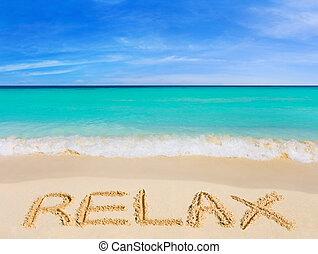 слово, пляж, расслабиться