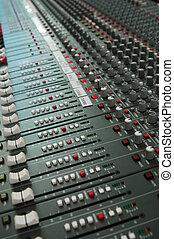 смешивание, аудио, консоль, доска