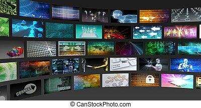 сми, технологии, концепция