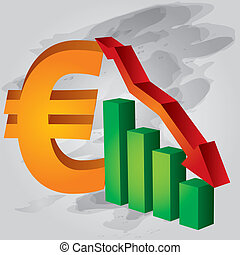 снижение, евро